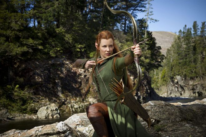 Evangeline Lilly as Tauriel (Image: MGM/New Line/Warner Bros.)