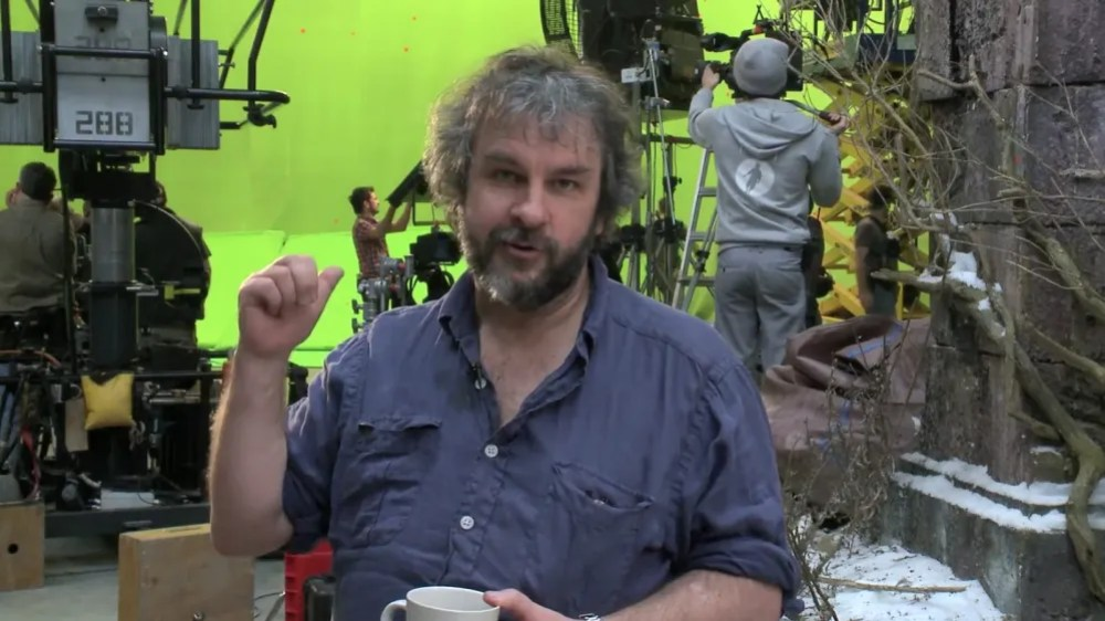 Peter Jackson on the set