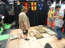 Catalyst Games had a giant version of The Duke, a two player strategy game.