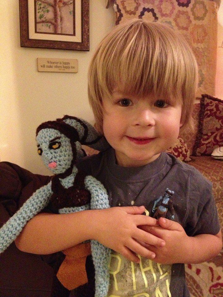 Aayla's little fan  Image: Peter Raber