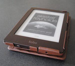 Koko e-reader case in open position