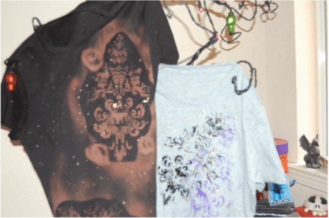 Fashion tees with pumpkin stencils. Photo by Lisa Kay Tate