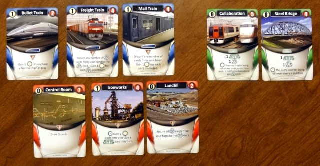 Trains sample cards