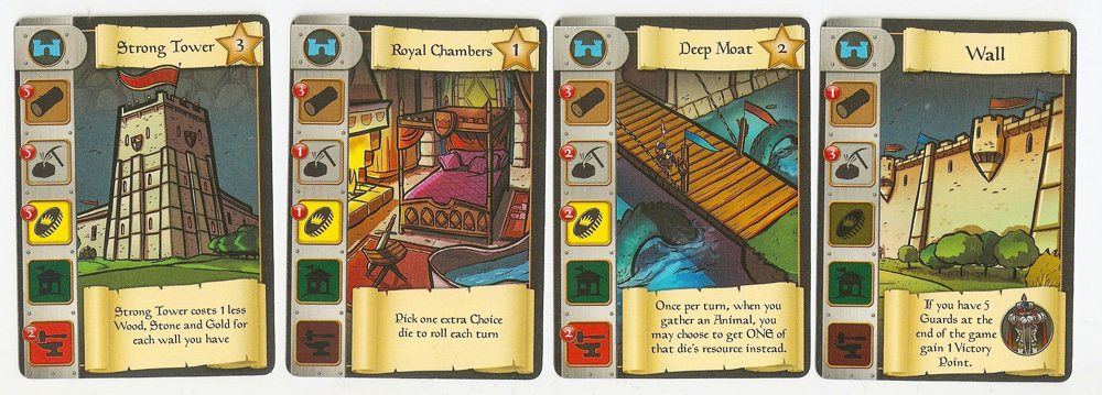 Castle Dice castle cards