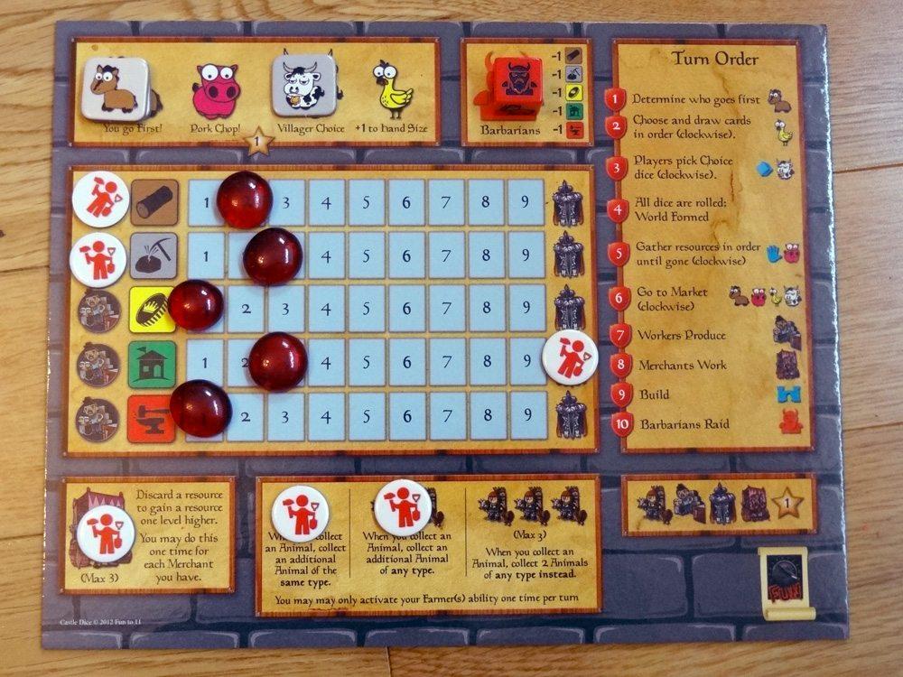 Castle Dice player board