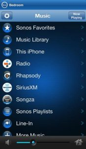 Control the Sonos Play:1 with a smartphone app