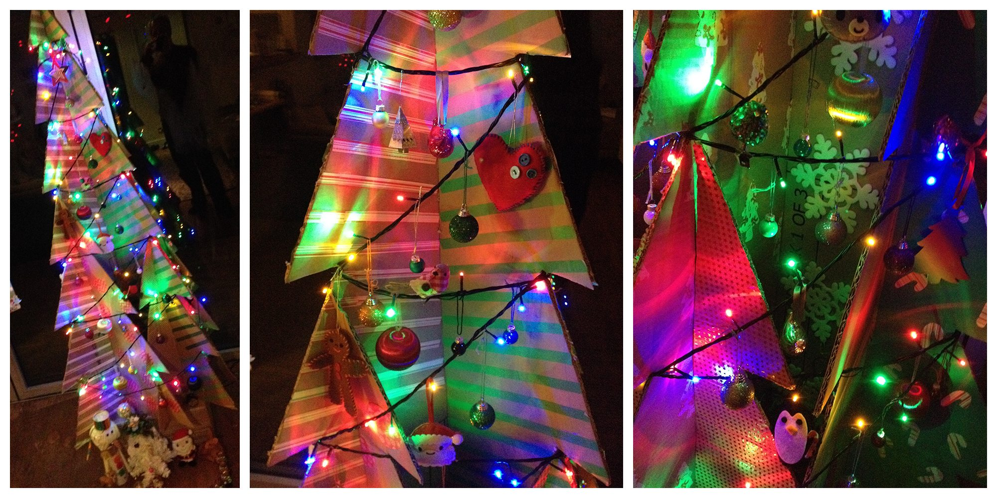Make Your Own Cardboard Christmas Tree