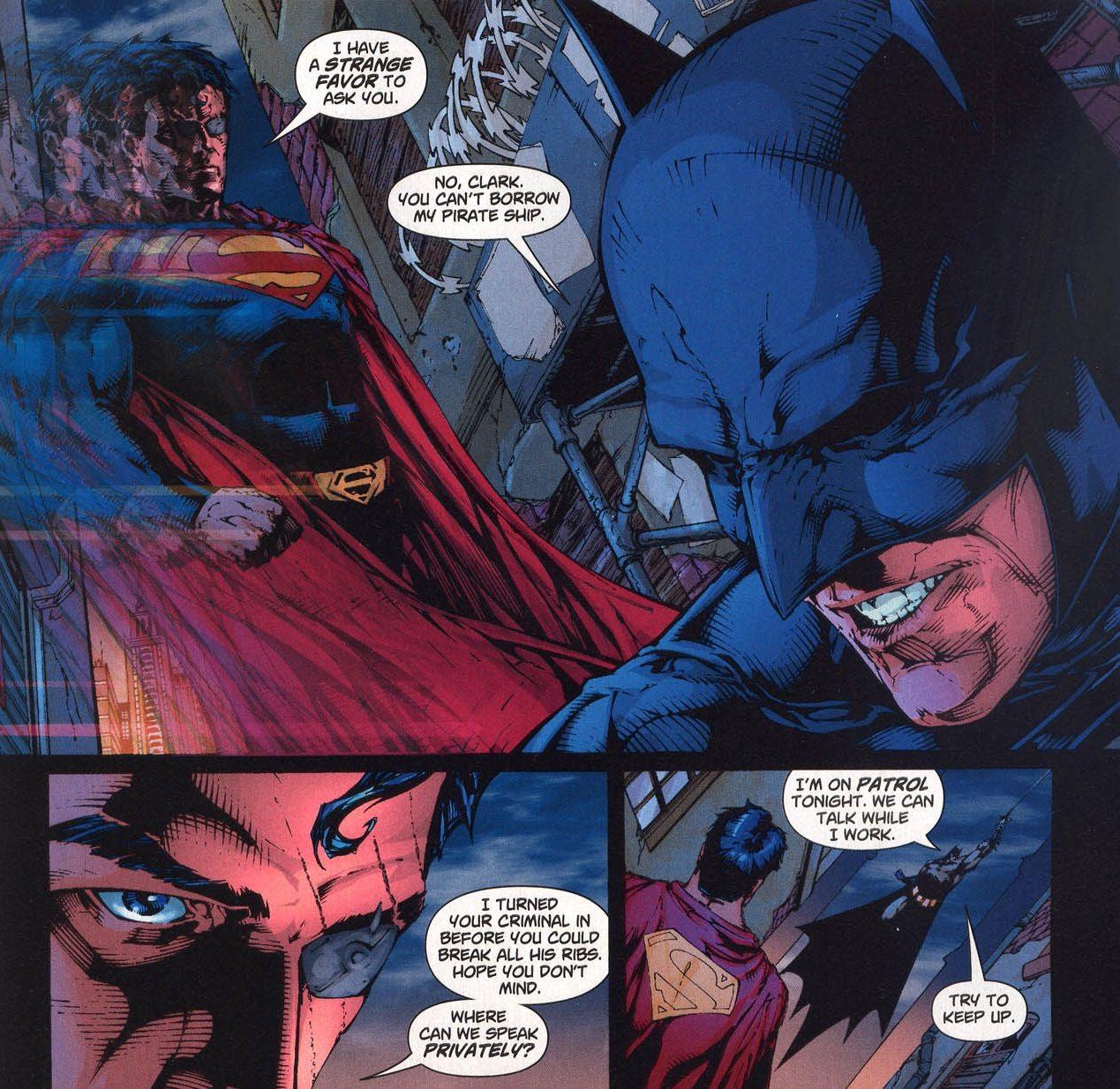 Batman gets the best lines in Superman / Batman  Image: DC Comics
