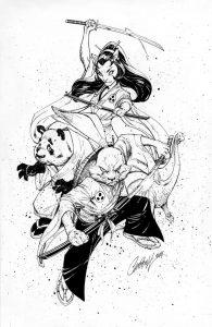 J. Scott Campbell's interpretation of the Usagi Yojimbo cast.