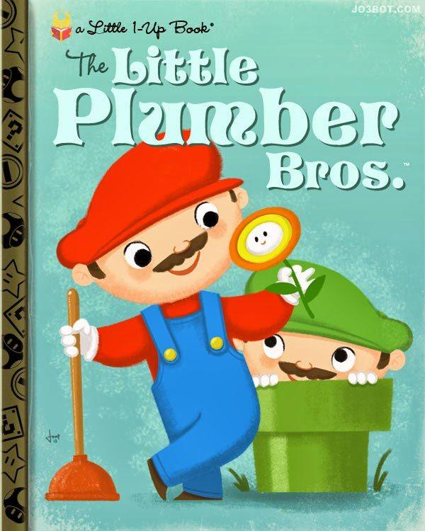 Nintendo Video Games as Classic Little Golden Books