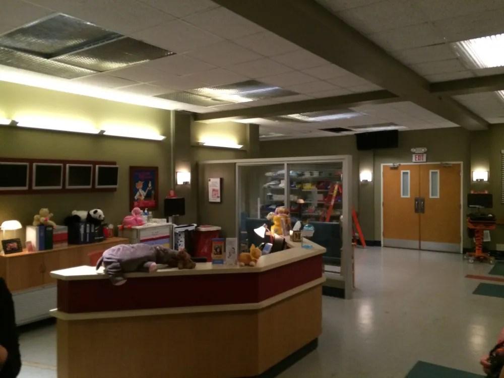 A ward (dressed as pediatric) on the hospital set