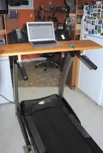 My treadmill desk