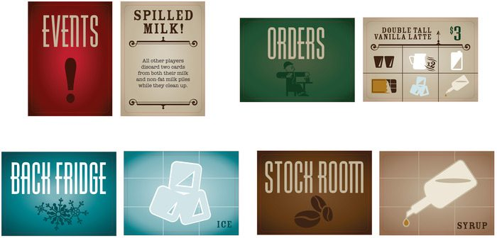 Uptown Espresso card types