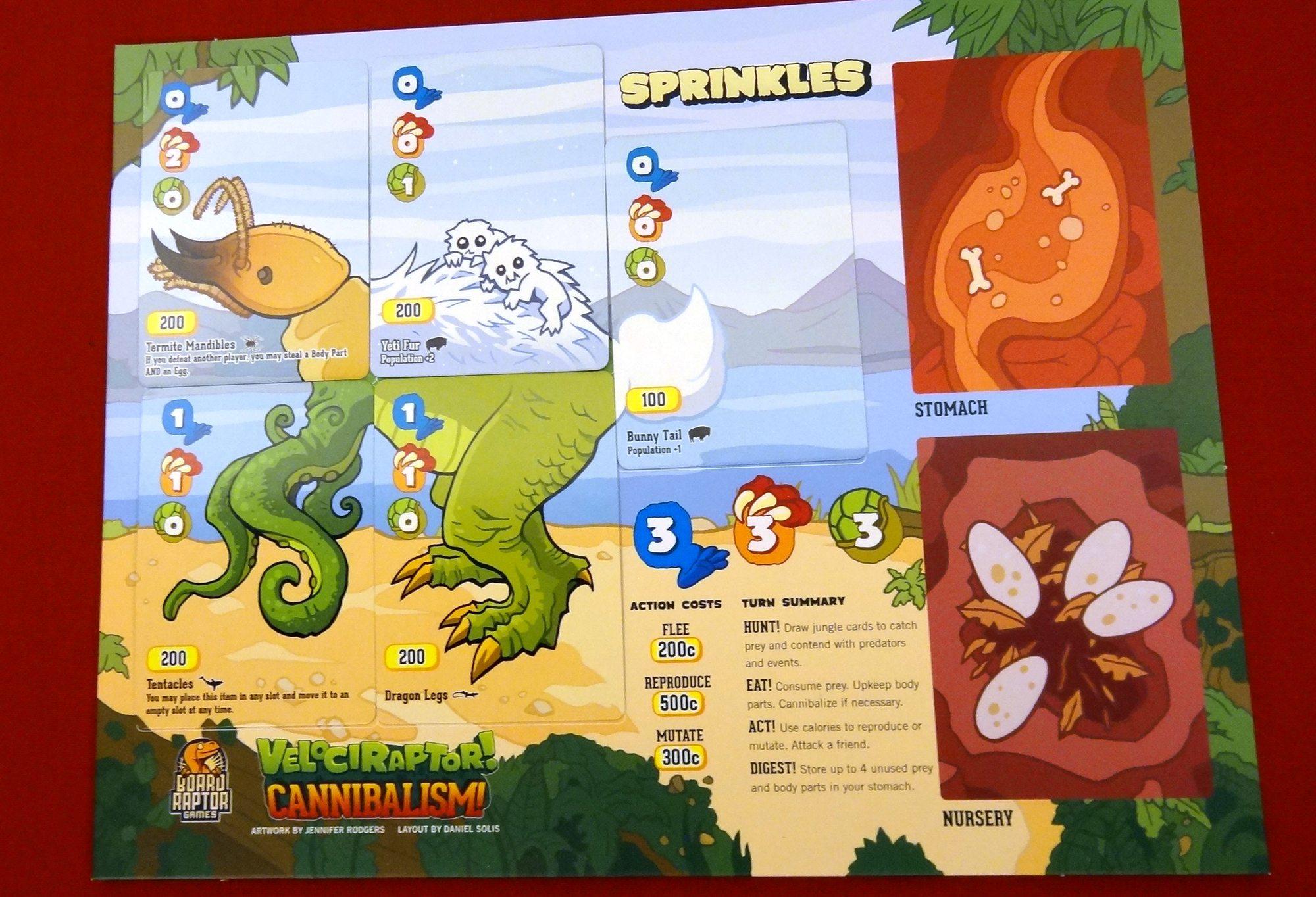 Velociraptor! Cannibalism! sprinkles
