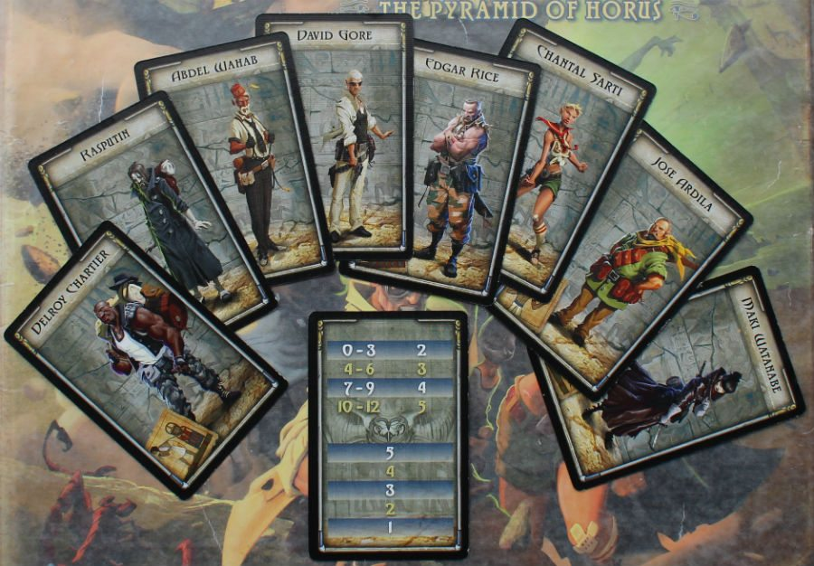 The Adventurers Cards with a Game Aid Card
