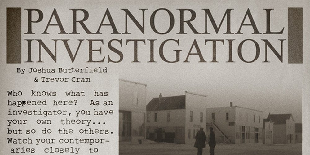 Paranormal Investigation - title