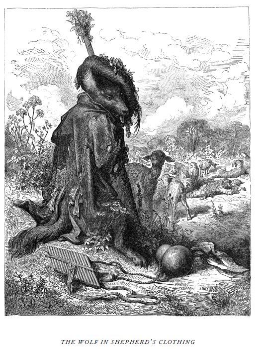 Wolf by Gustave Doré, public domain