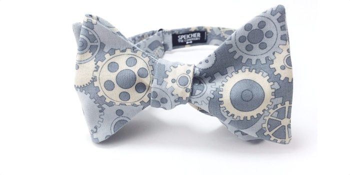 Steampunk Gears Bow Tie