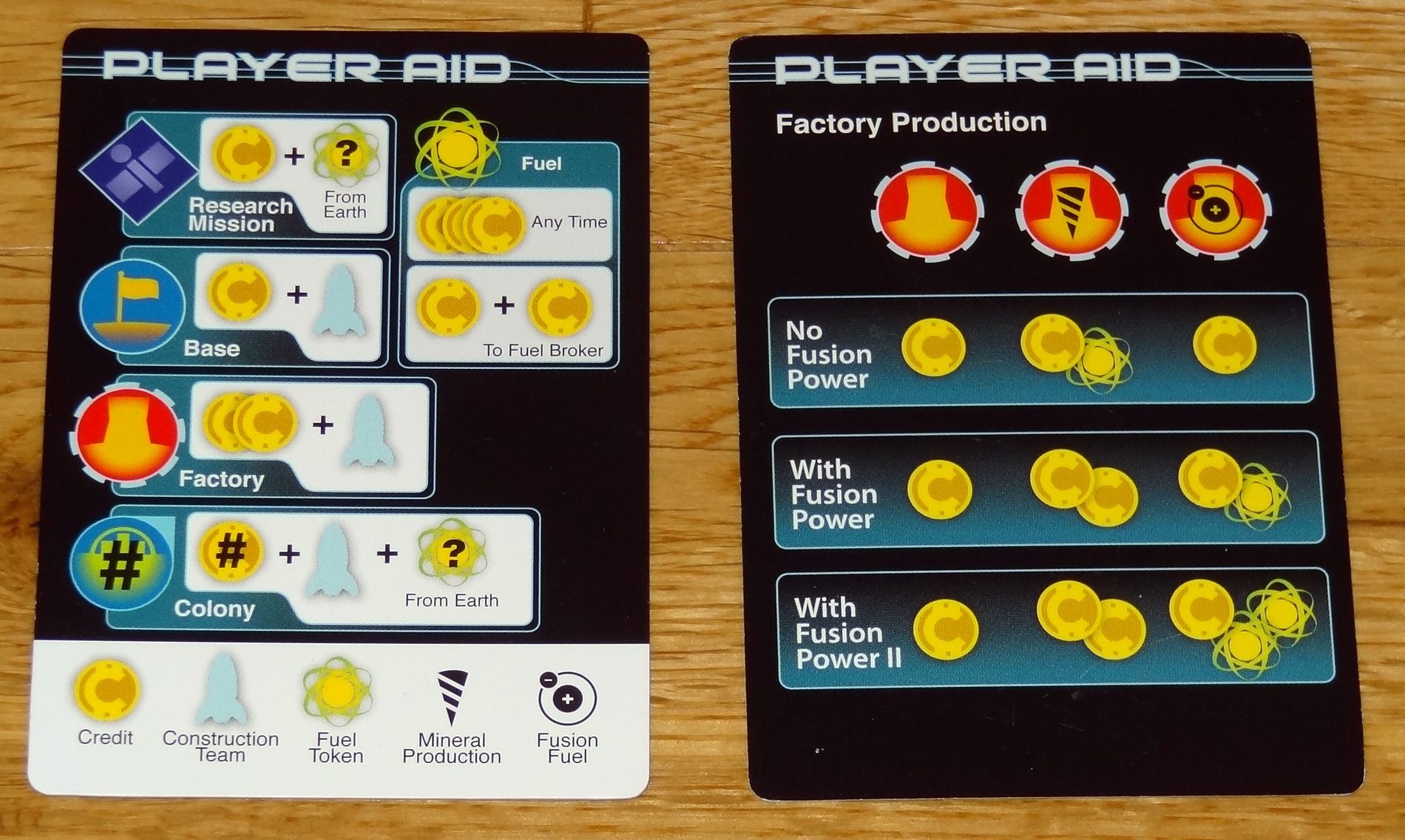Destination: Neptune player aid cards
