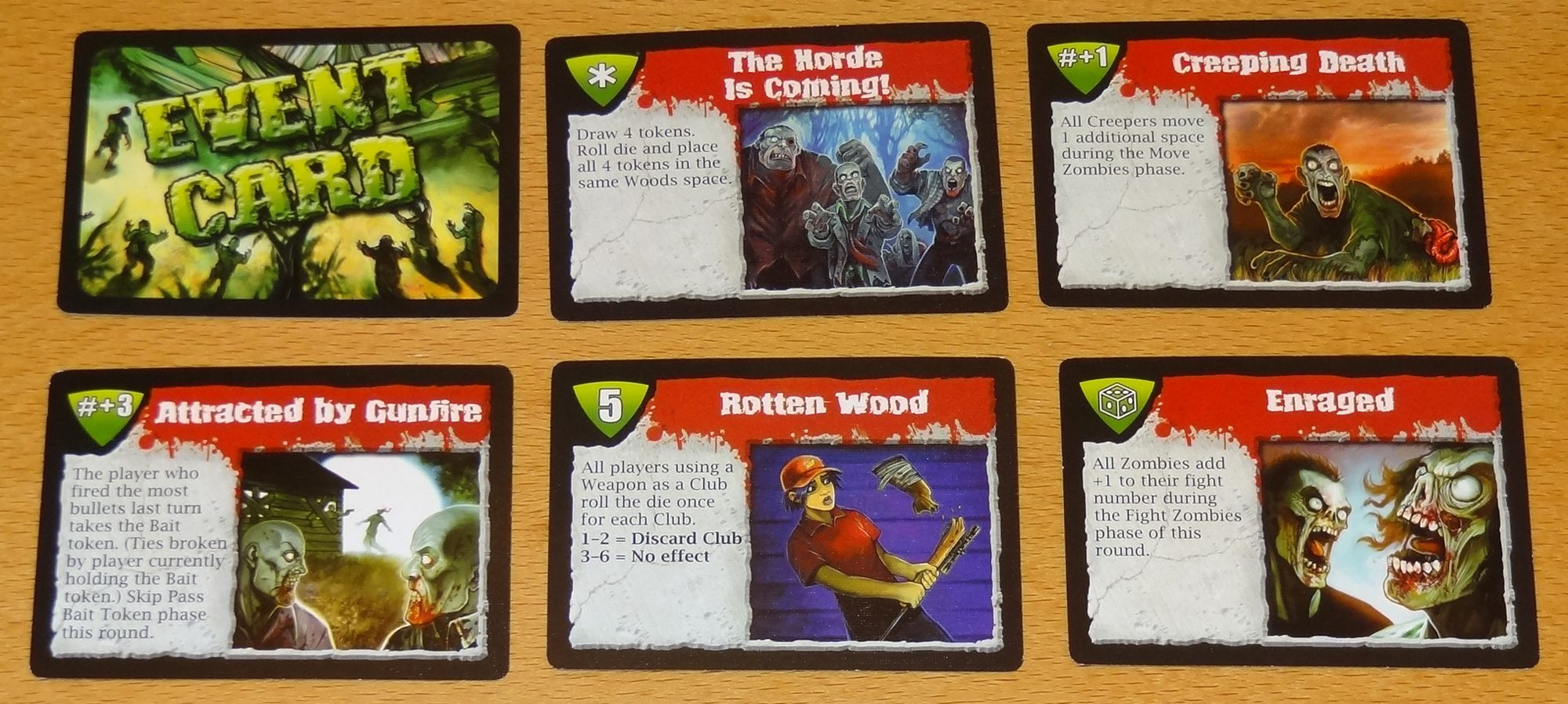 Dead Panic Event cards