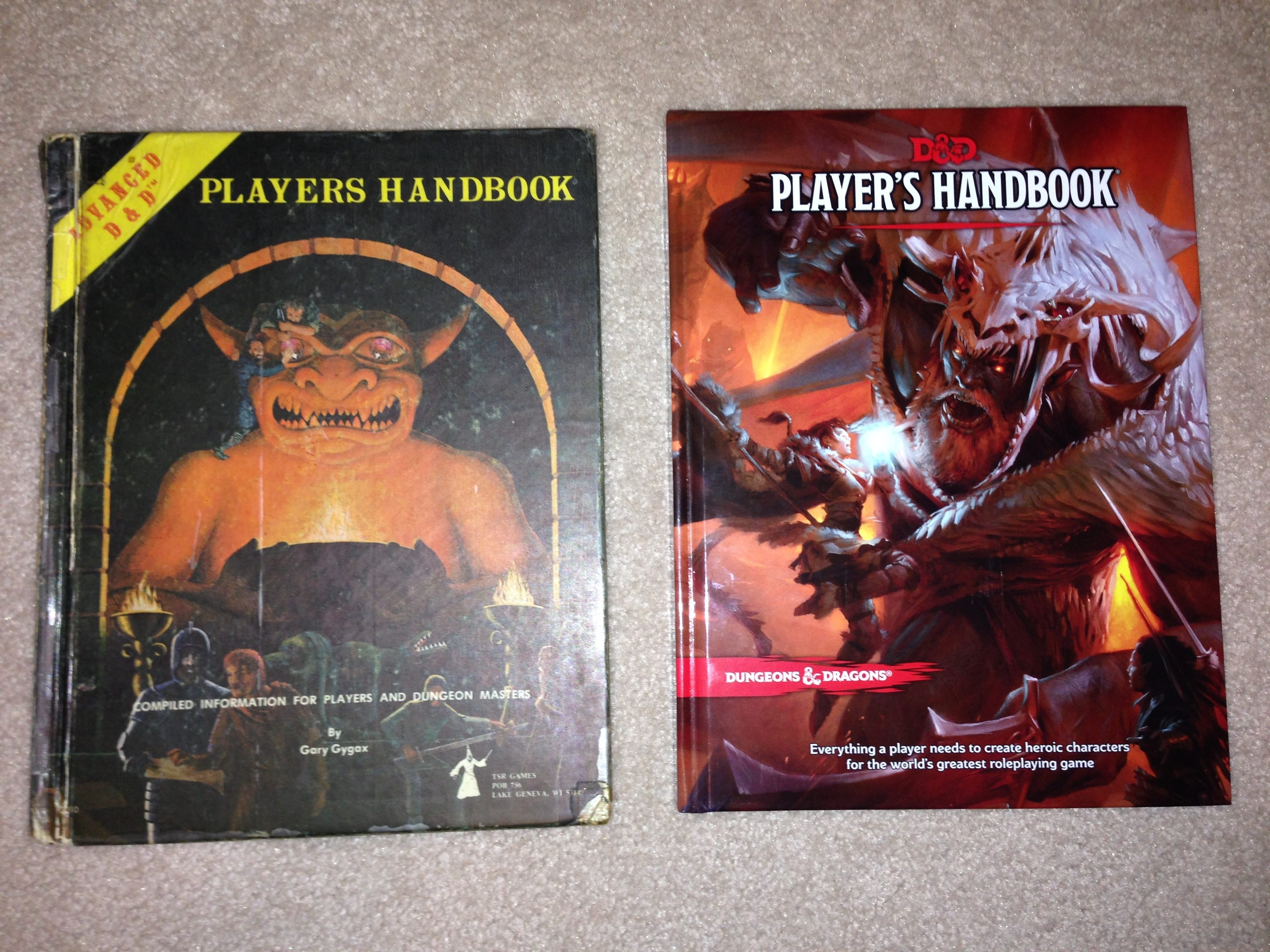 A Tale of Two Handbooks — 1978 AD&D and 2014 D&D