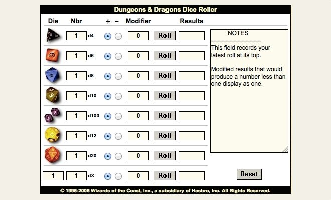 Dice Rolling Solutions: Virtual