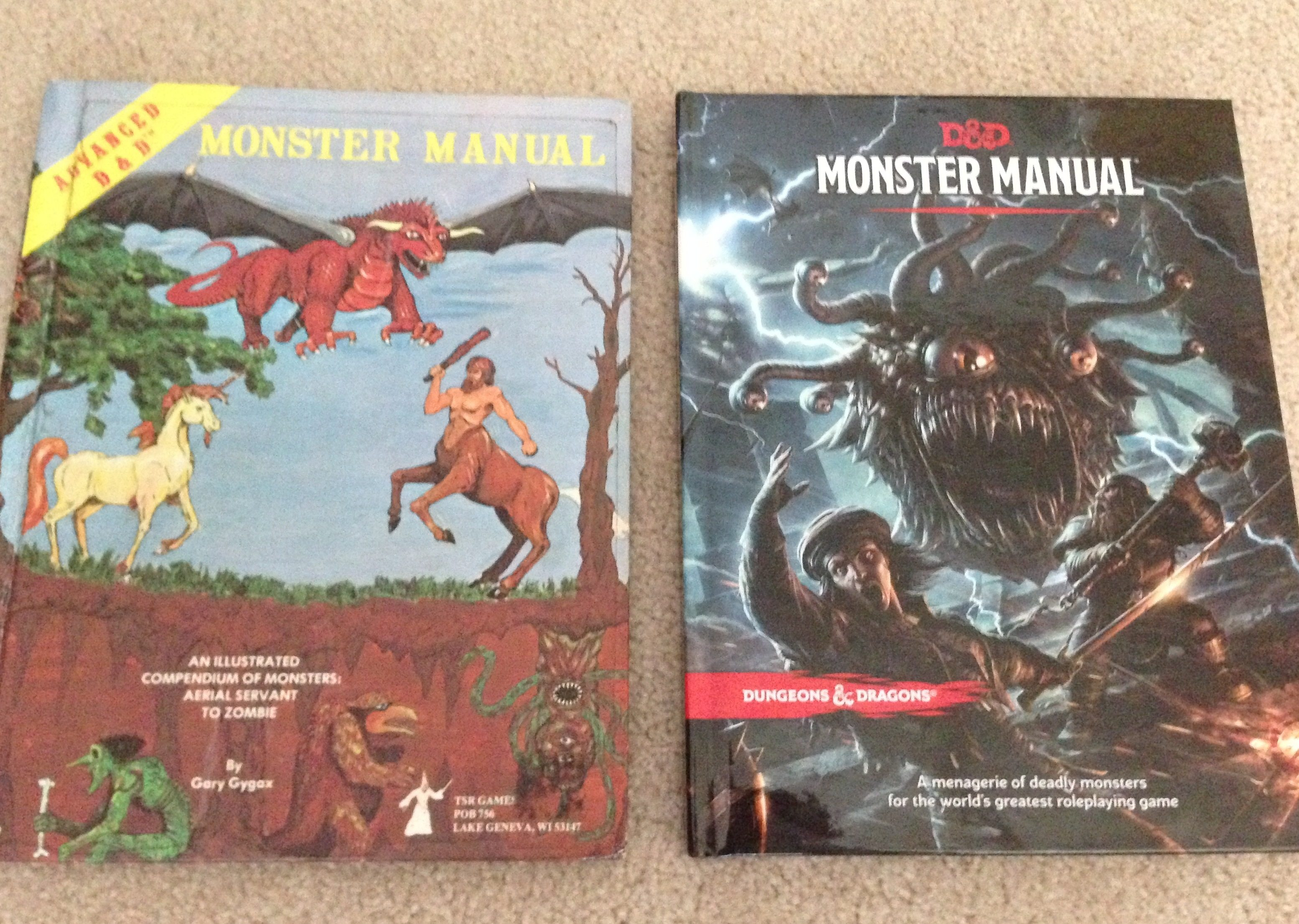 A Tale of Two Monster Manuals — 1977 AD&D and 2014 5e D&D