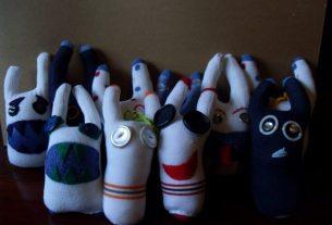handmade sock monsters,