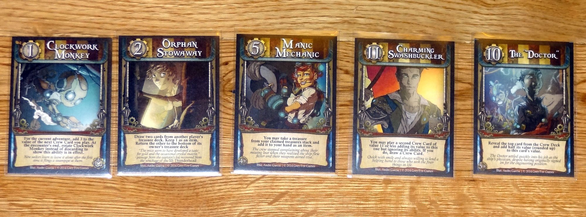 Captain's Wager crew cards