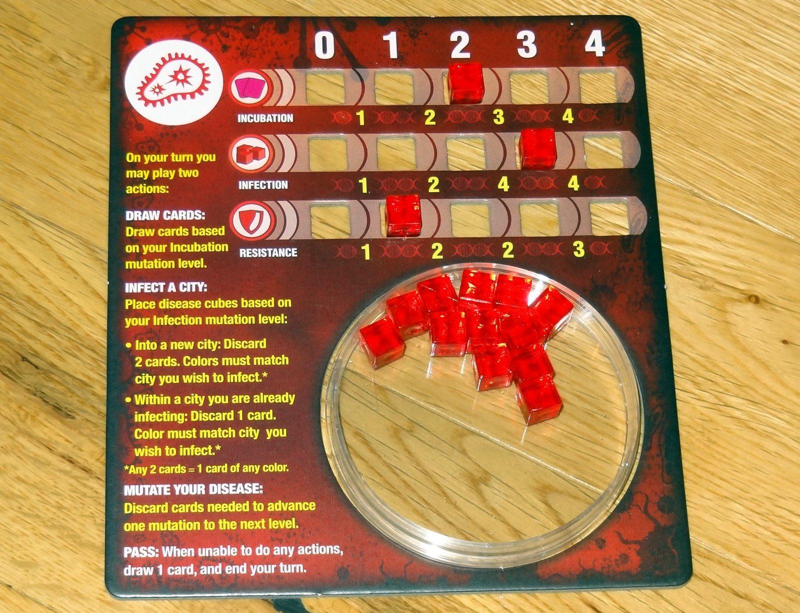 Pandemic Contagion board