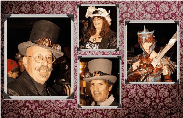 Bonnie Black Donnie O'Irish, Viola Penelope O'Donnell, Doctor Robert Hatter, and Sonya Tyburn the Dragonslayer.