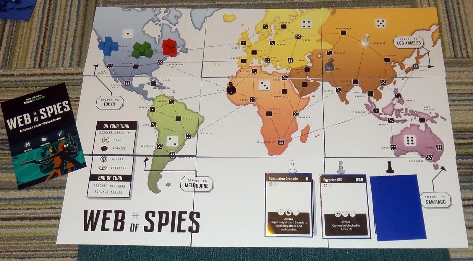 Web of Spies board