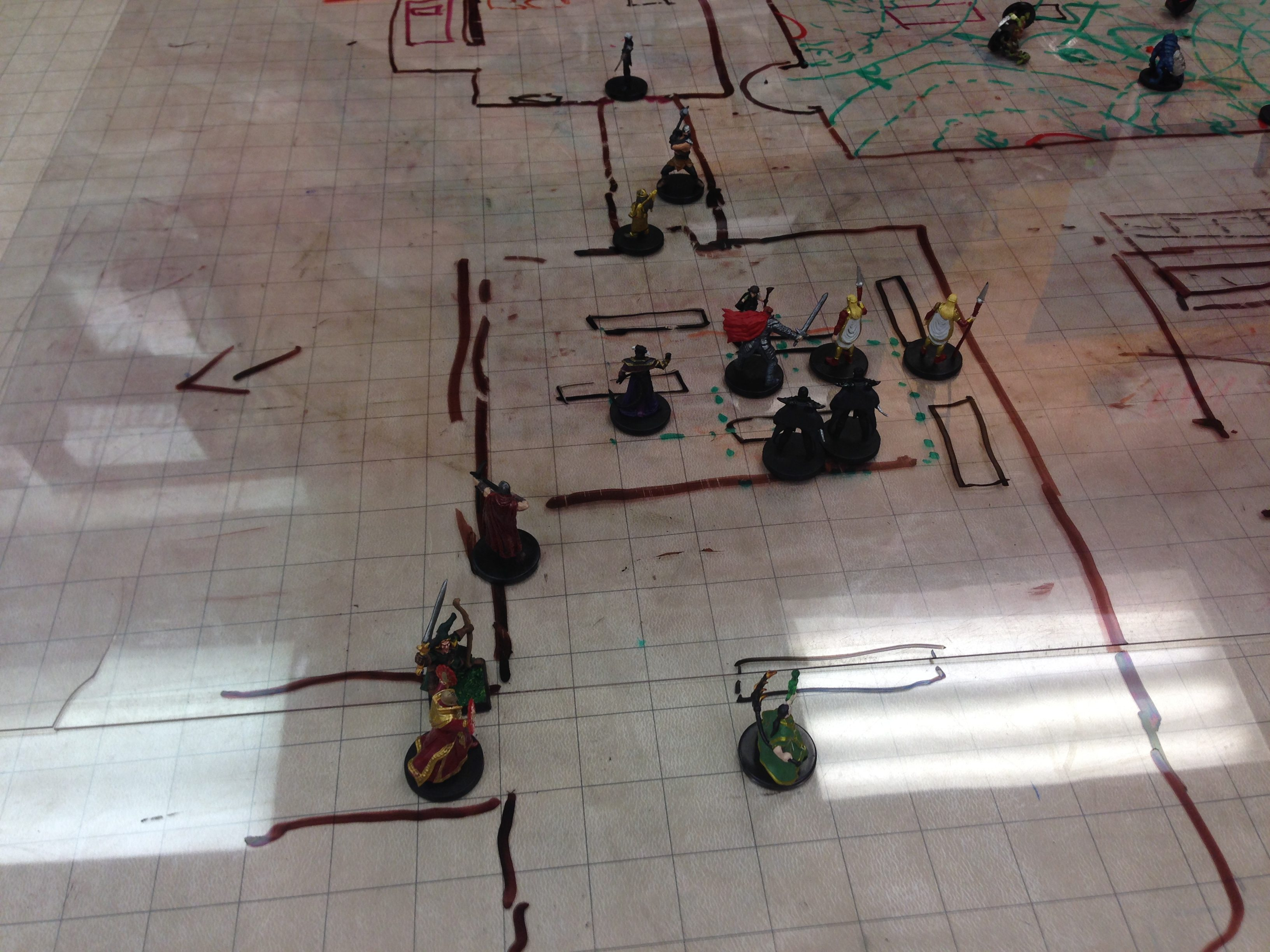 Trouble... lots of it. Six enemies plus the female evil cleric.
