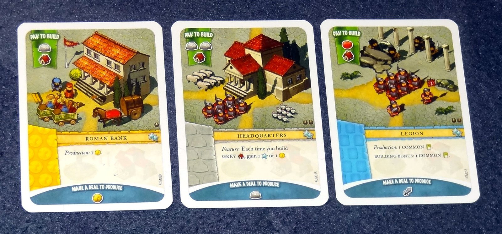 Imperial Settlers Roman Cards