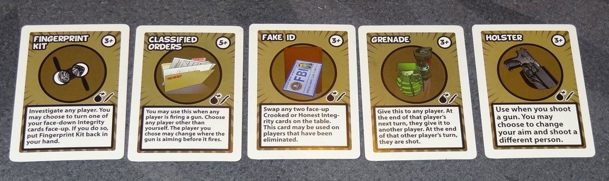 Bombers and Traitors equipment cards