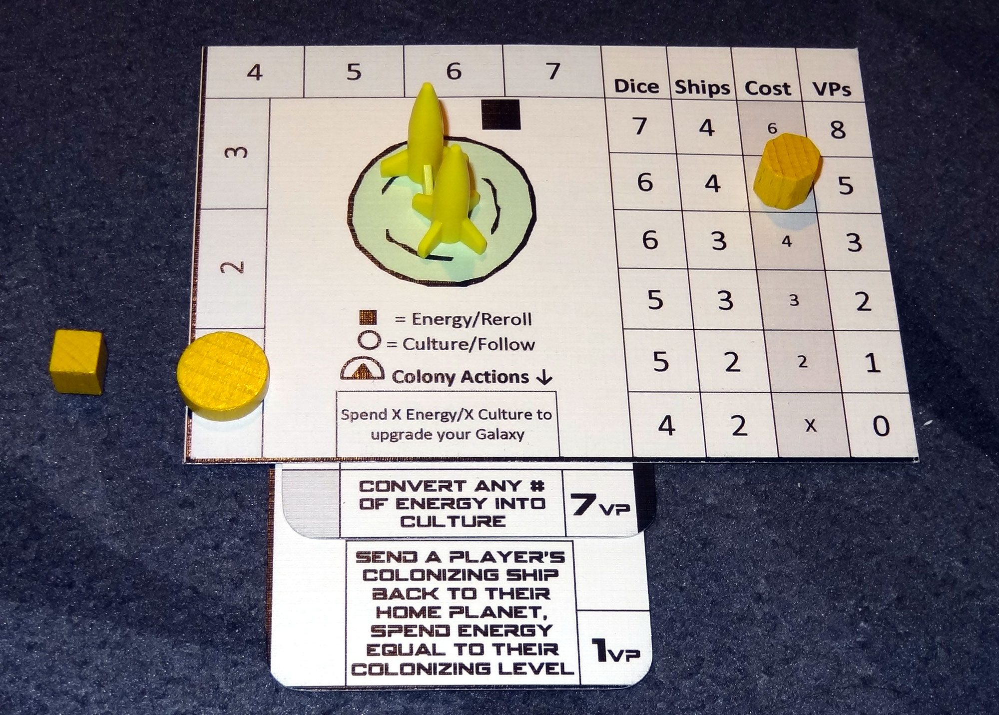 Tiny Epic Galaxies player board