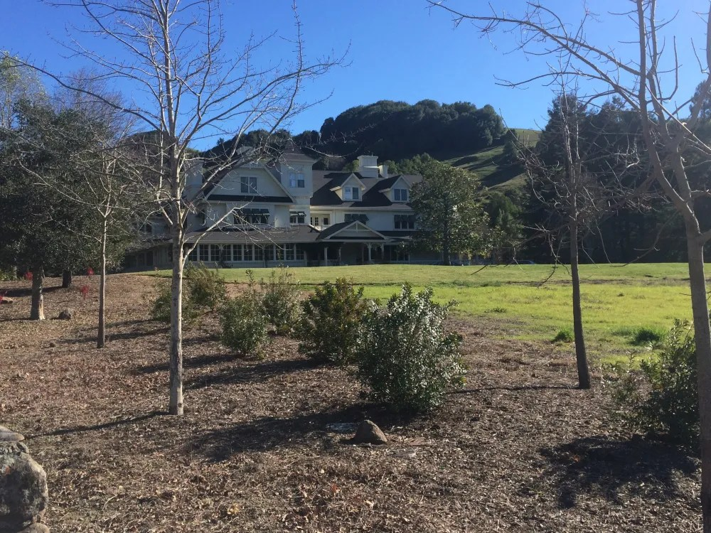 The main house at Skywalker Ranch, built in 1980. Photo by the author.