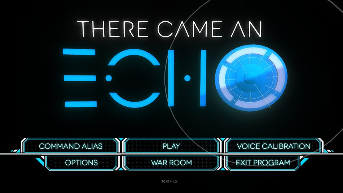 The main menu for There Came an Echo