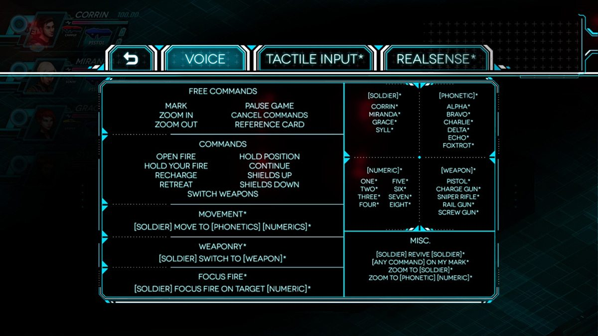 Quick reference card of all the basic voice commands.