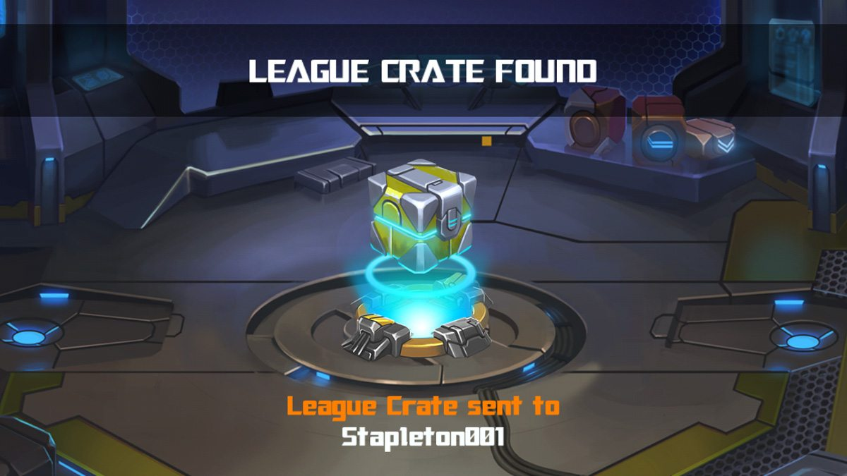 League Crates are free bonuses