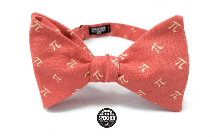Red Apple Pi Bow Tie