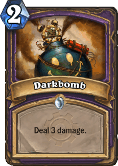 The card Darkbomb from Hearthstone.