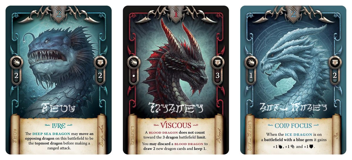 Deep Sea, Blood, Ice Dragons