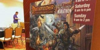 Pathfinder Adventure Card Game meeting room.