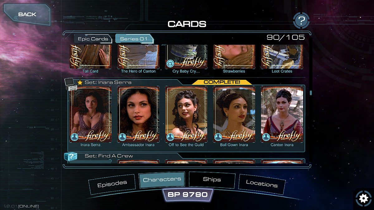 Collect cards to form sets and earn more rewards.