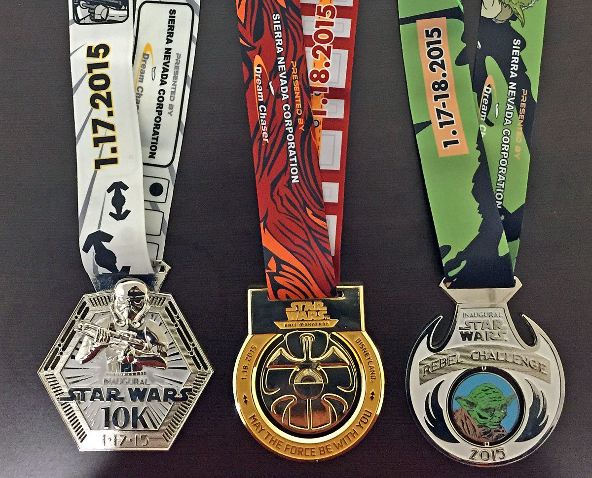 Running geeks collect shiny metal bling.