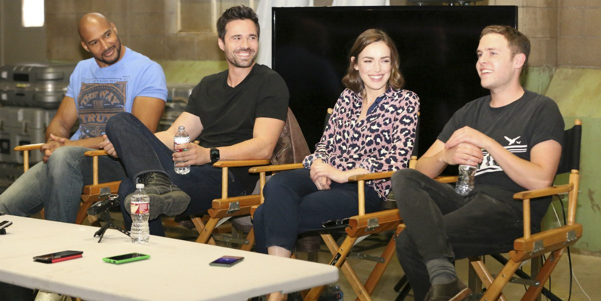 Talking on the Set With the Cast of 'Marvel's Agents of S.H.I.E.L.D.' (Part 1)