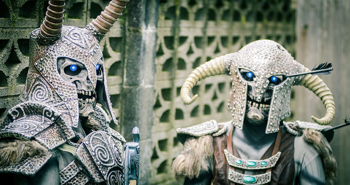 Bill and Brittany Doran as Draugrs from Skyrim. Photo provided by Bill Doran.