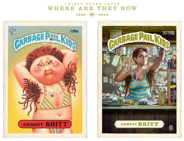 Garbage Pail Kid Armpit Britt 30 years later