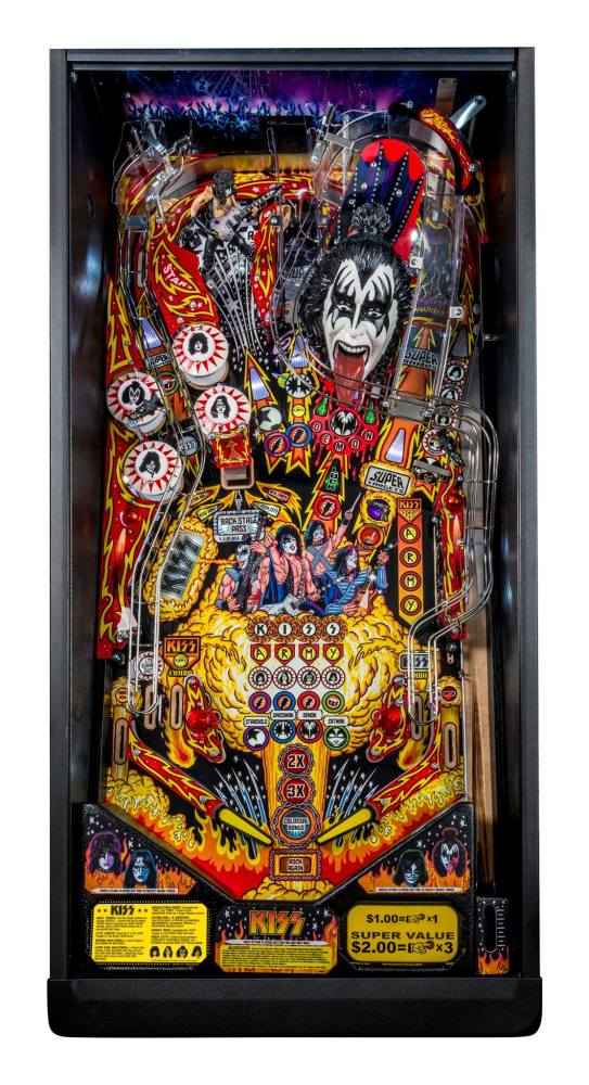 KISS pinball playfield
